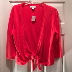 NWT Christopher & Banks  Tie Bottom Shrug
